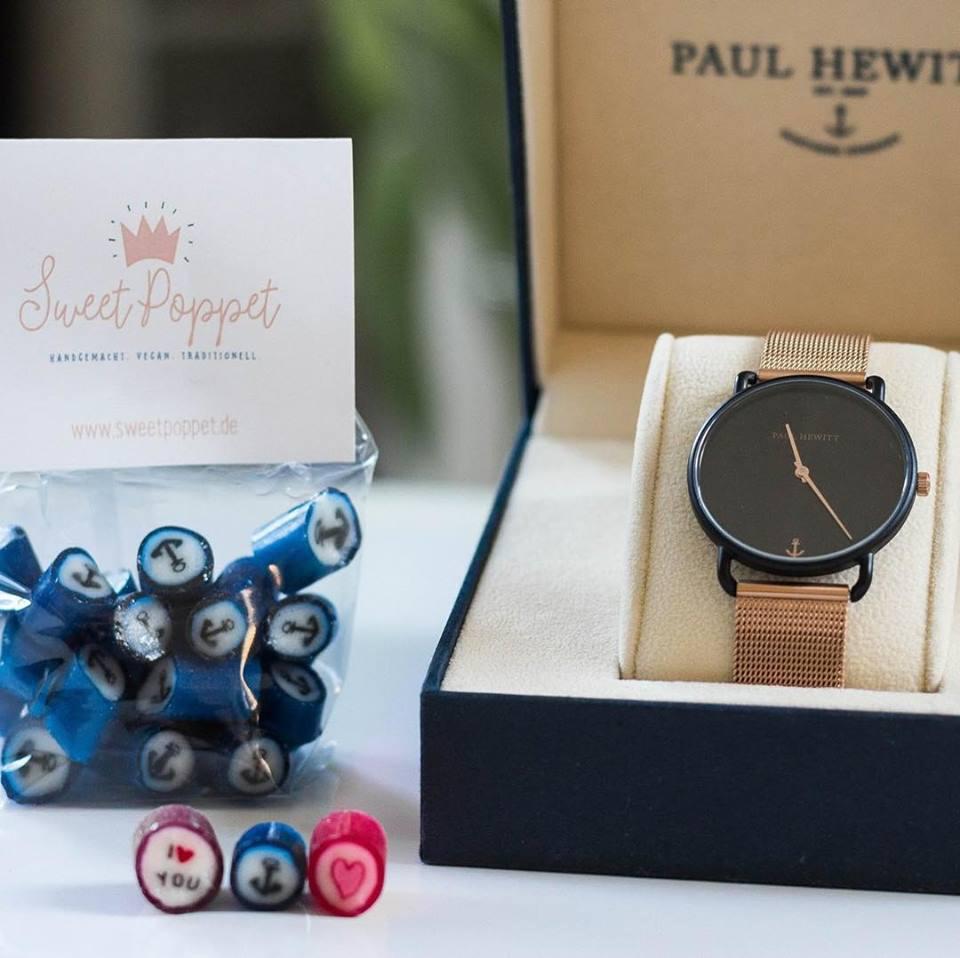 Paul Hewitt Uhr und handgemachte Bonbons von Sweet Poppet