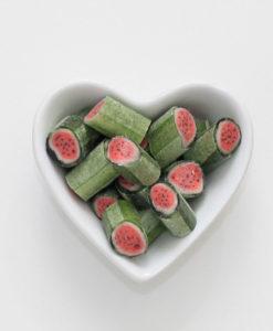 Bonbons Wassermelone von Sweet Poppet in Herzschale