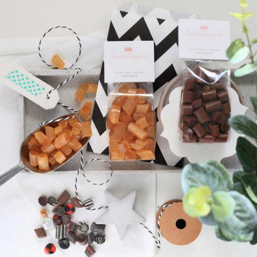 Sweet Poppet Ingwer-Bonbons Flatlay