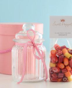 Geschenkset My Sweetheart mit Herzbonbons und Bonbon-Glas von Sweet Poppet