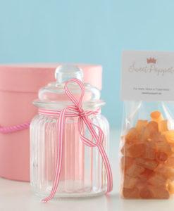 Geschenkset Spicy Stuff mit Ingwerbonbons und Bonbonglas von Sweet Poppet