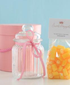Geschenkset Shugga-free Lemon mit zuckerfreien Zitronenbonbons von Sweet Poppet