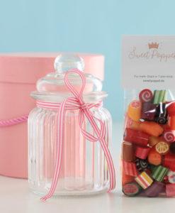 Geschenkset Signature Mix mit Sweet Poppet Bonbon-Mischung und Bonbon-Glas