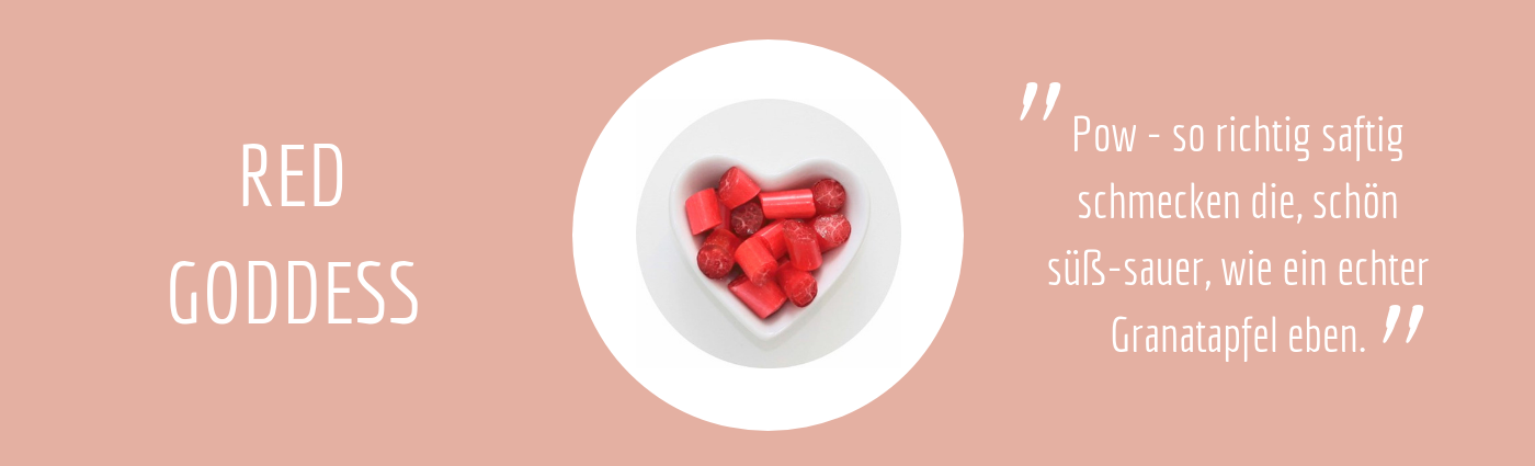 Sweet Poppet Granatapfel-Bonbons Geschmack