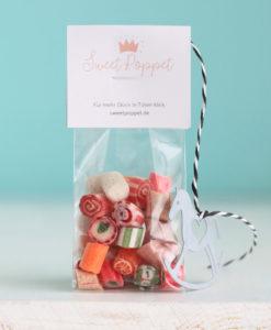 Sweet Poppet Adventsmischung Bonbons mit Schaukelpferd-Deko