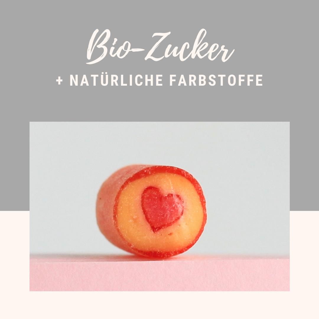 Sweet Poppet mit Bio-Zucker hergestellt