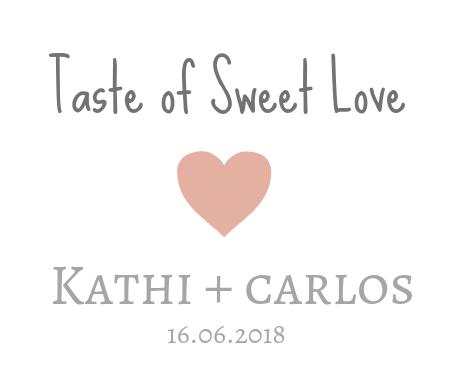Idee Etikett Hochzeits-Bonbons Taste of Sweet Love