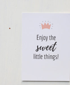 Postkarte von Sweet Poppet Enjoy the sweet little things