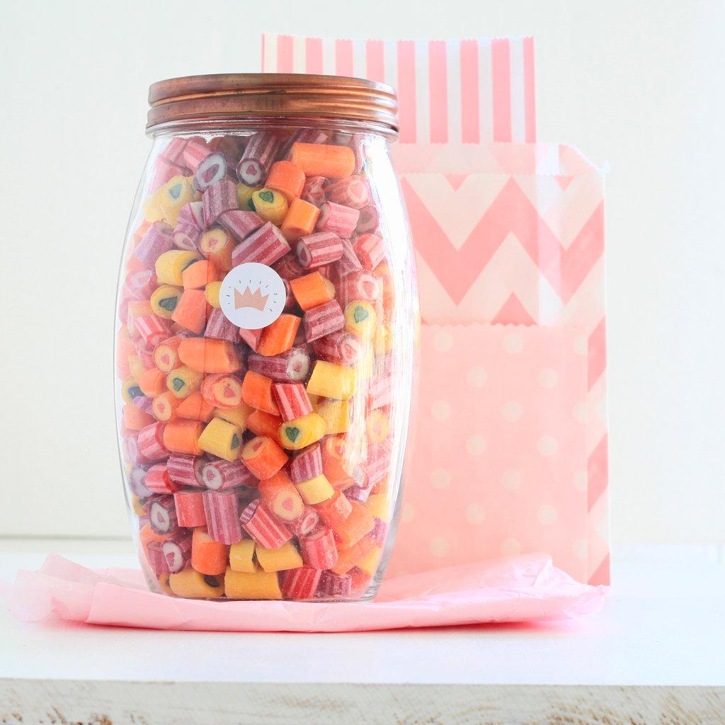 Bunte Herzchen-Bonbons von Sweet Poppet 1kg im Glas