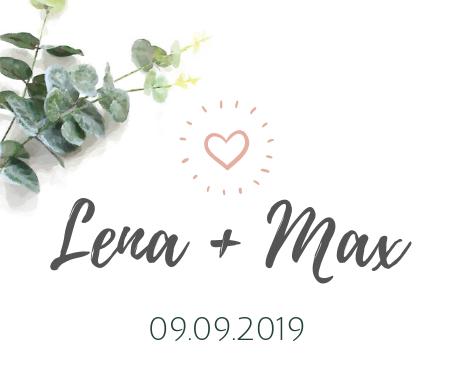 Etikett für Gastgeschenke Lena Max