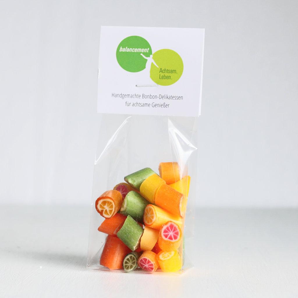 Sweet Poppet Citrus-Bonbons als Kundengeschenk