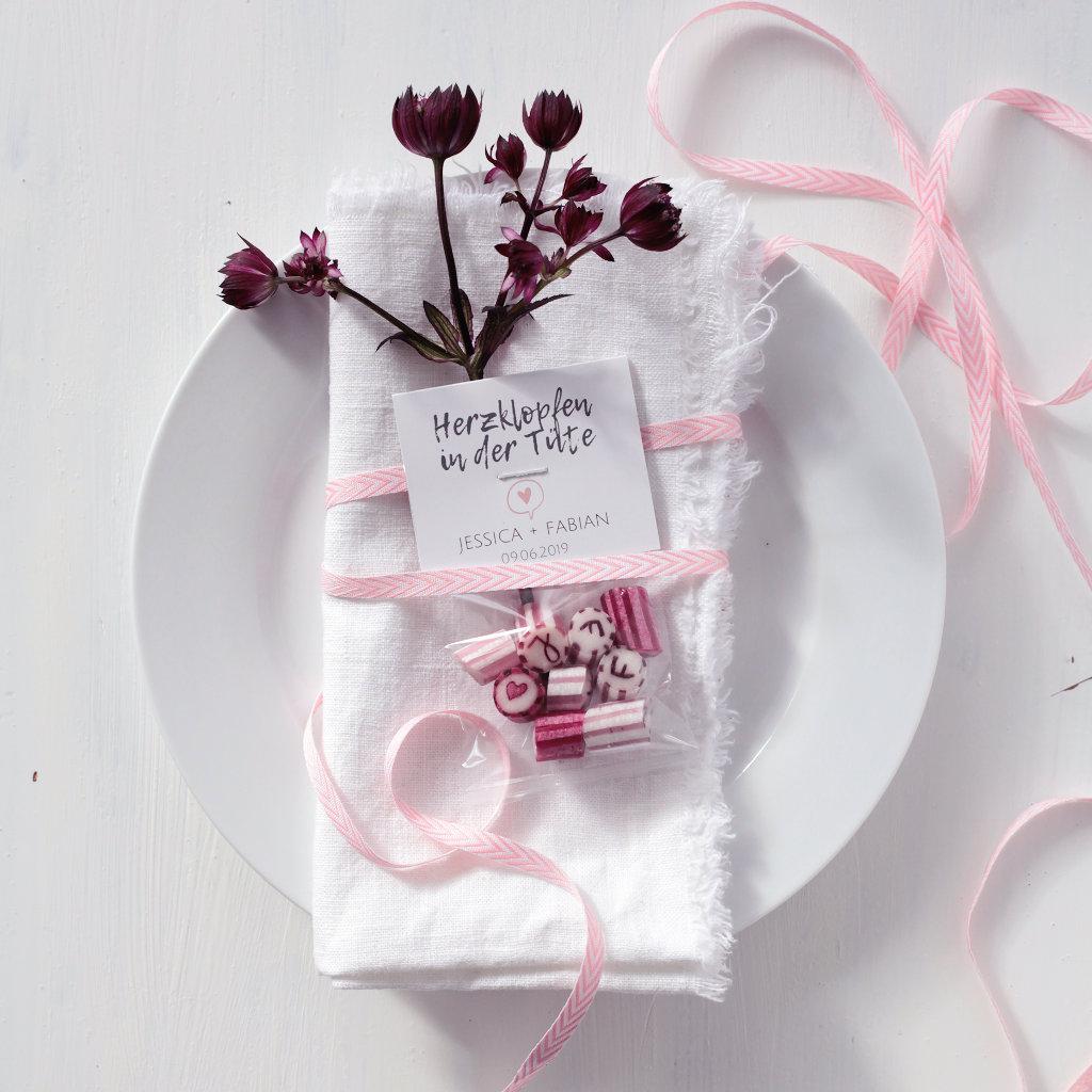 Gastgeschenk auf Hochzeit rosa