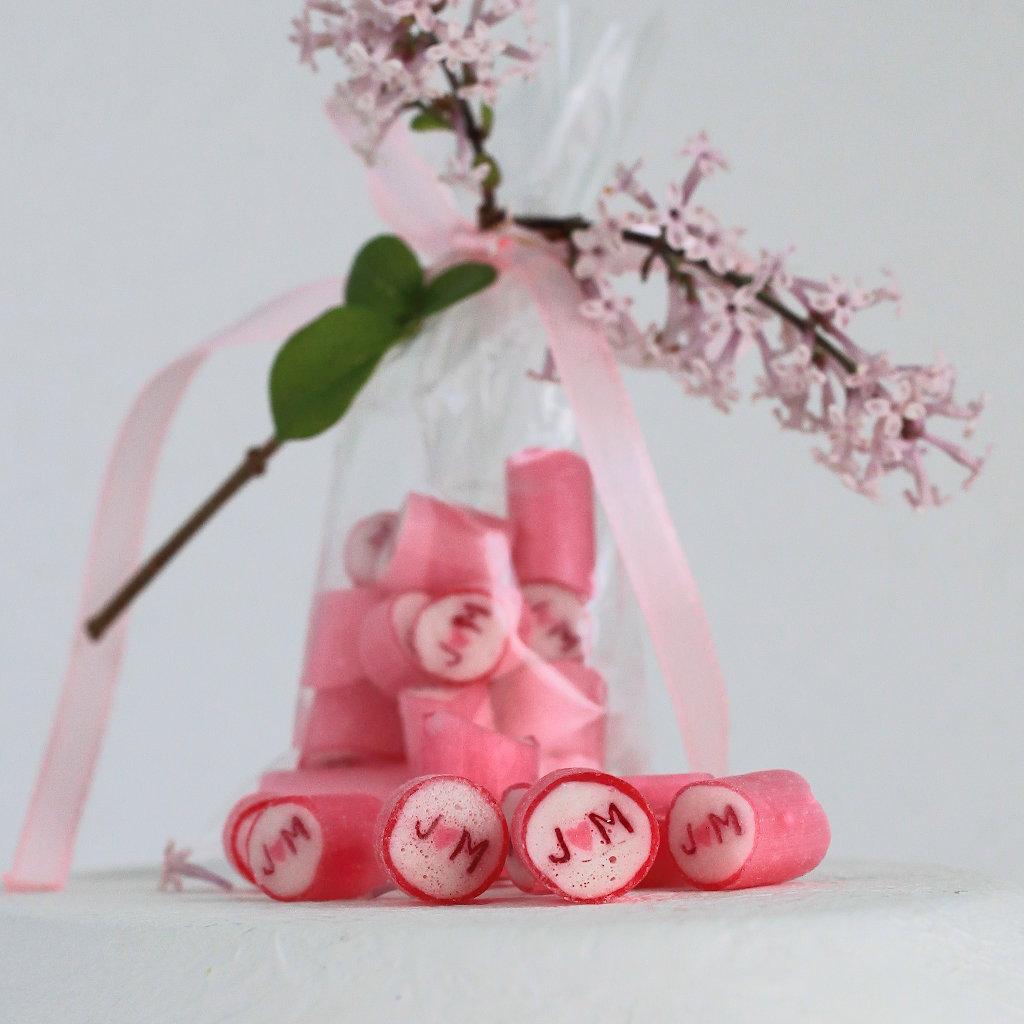 Individuelle Bonbons als Hochzeits-Gastgeschenk