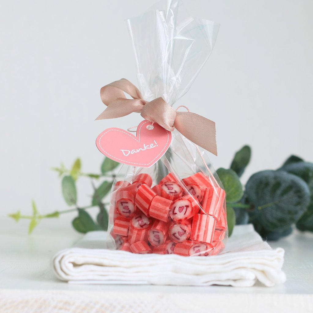Individuelle Bonbons als Gastgeschenk als Dankeschön