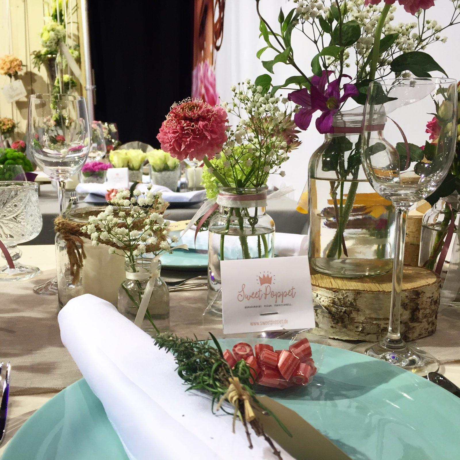 Bonbons als Gastgeschenk auf einer Hochzeit